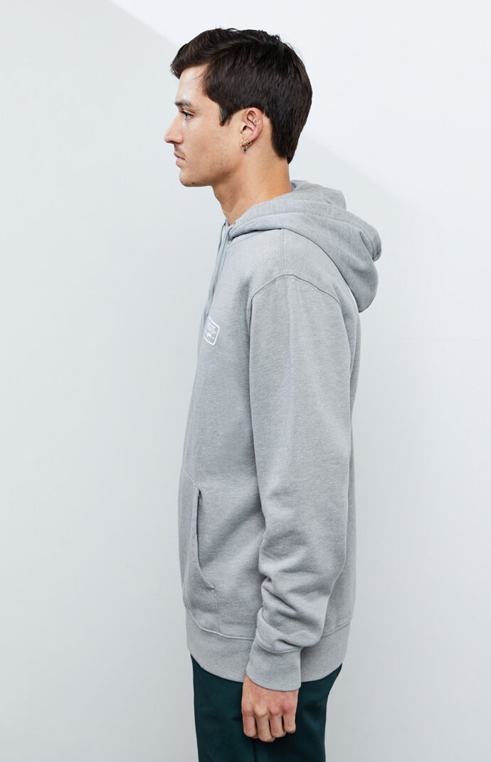 Heather Grey Full Patch Hoodie