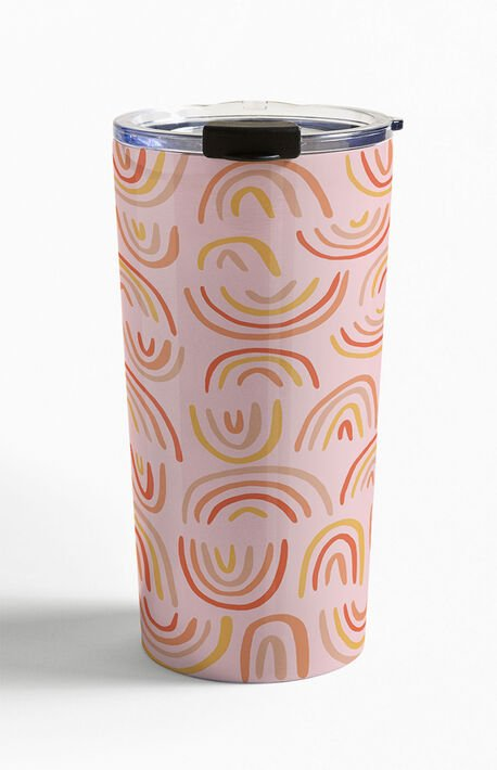 Rainbow Print Travel Mug