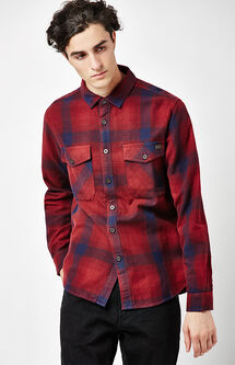 Ventura Plaid Flannel Long Sleeve Button Up Shirt