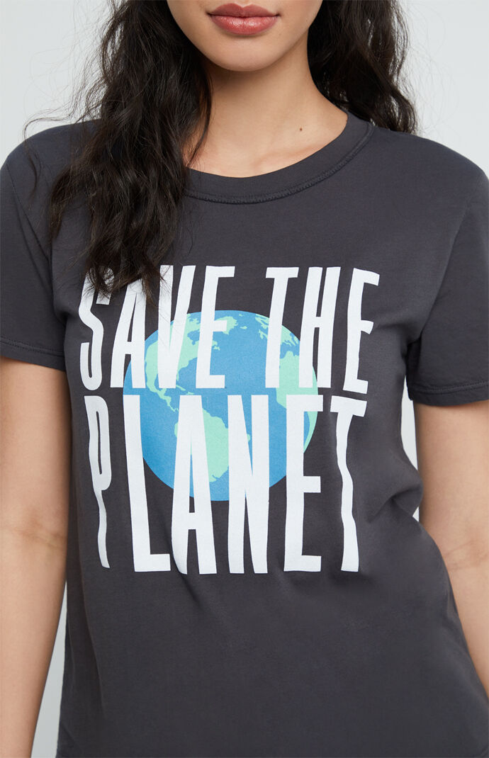 Black Save The Planet T-Shirt
