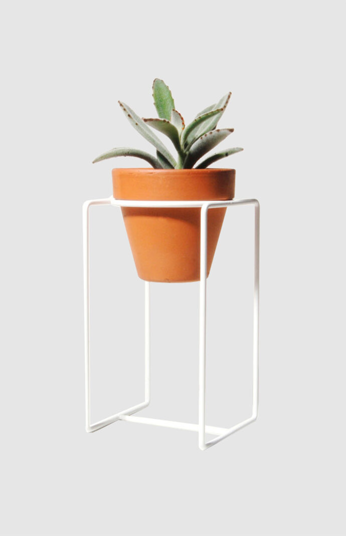 White Desk Planter