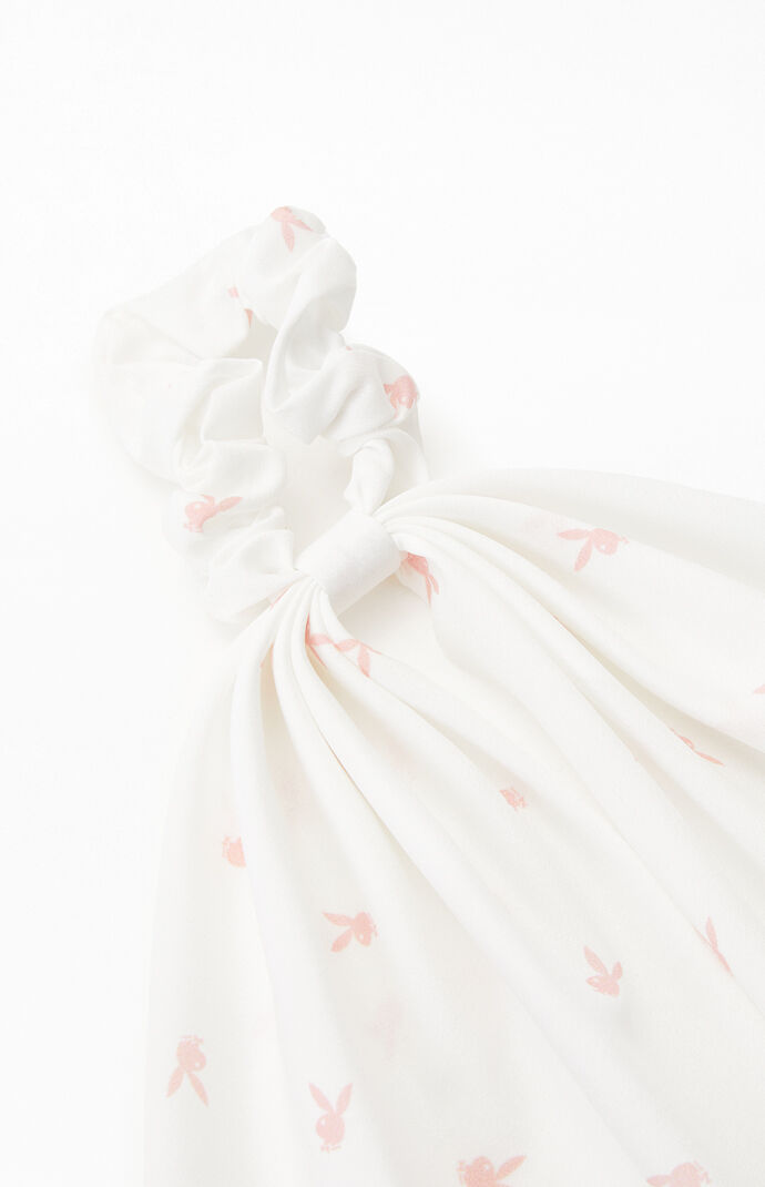 By PacSun White & Pink Bunny Flowy Scrunchie