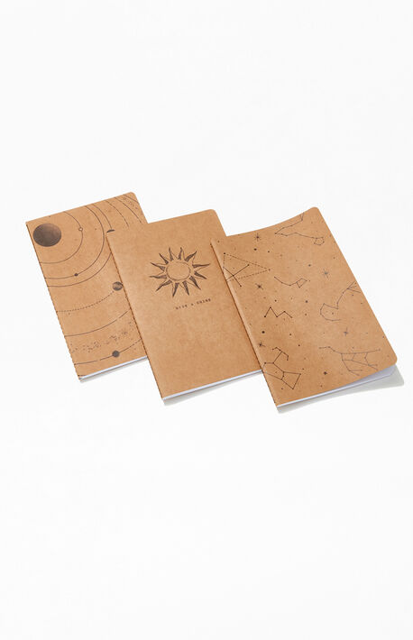 3 Pack Astronomy Notebooks