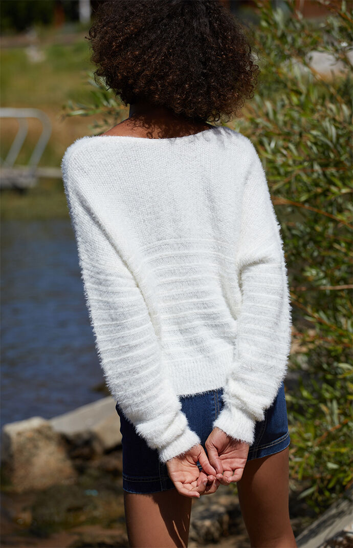 Fuzzy Horizontal Dolman Sweater