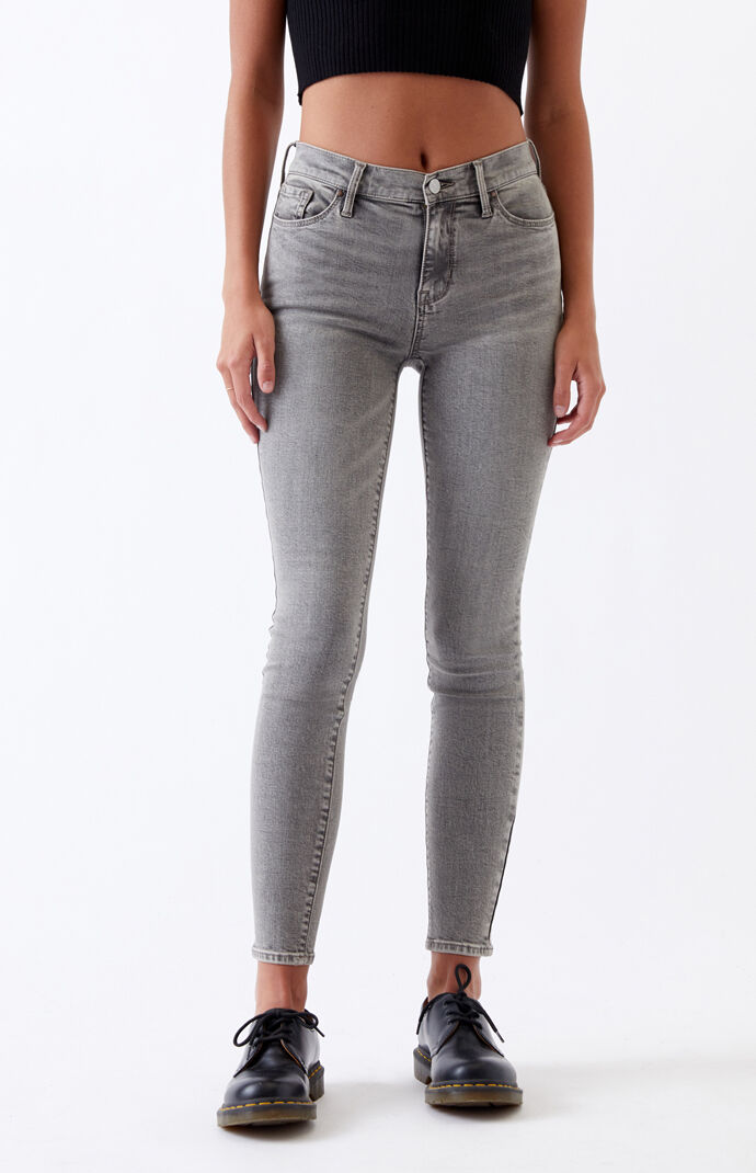 Gray High Waisted Jeggings