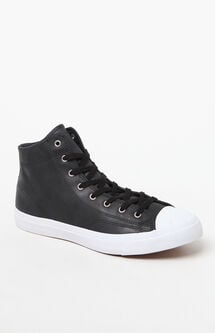 Jack Purcell Waterproof High Top Leather Black & White Boots