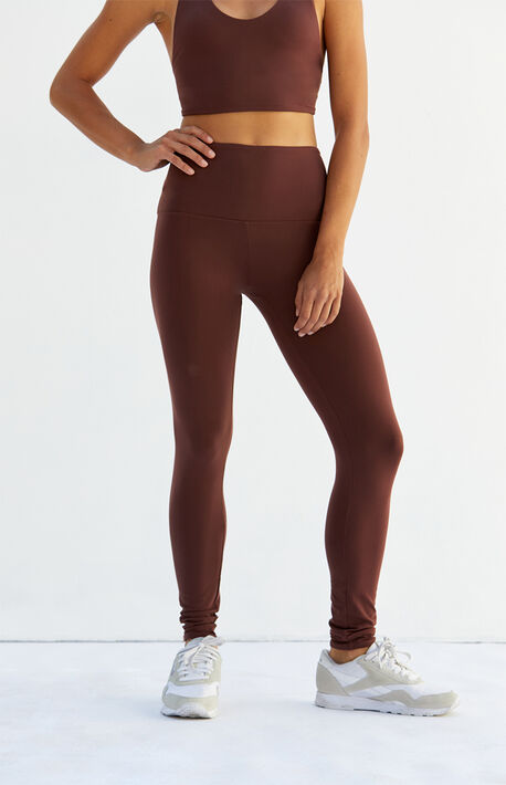 Wine Mars Active Leggings