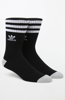 Roller Black & White Crew Socks