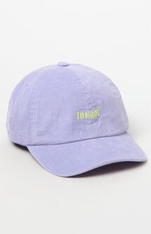 Corduroy Purple Strapback Dad Hat