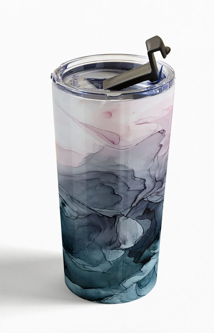 Blush Paynes Gray Abstract Travel Mug