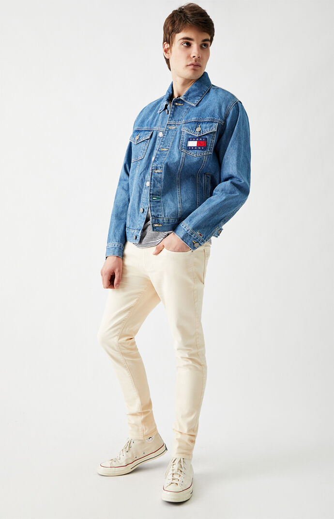 Mason Flag Denim Trucker Jacket
