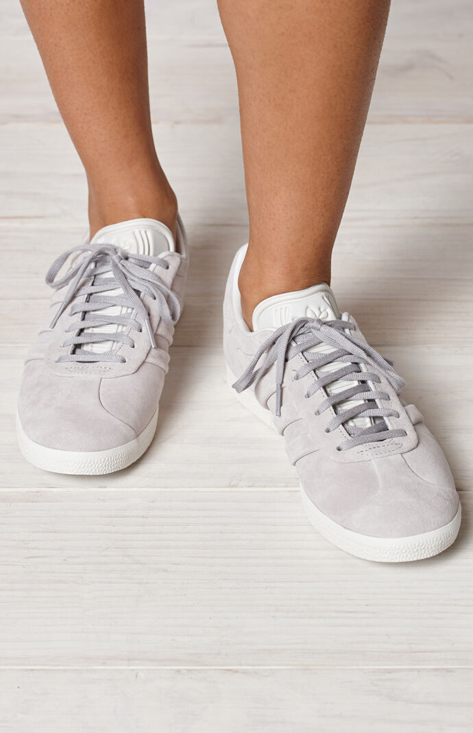 adidas Women's Gray Gazelle Stitch And Turn Sneakers | PacSun