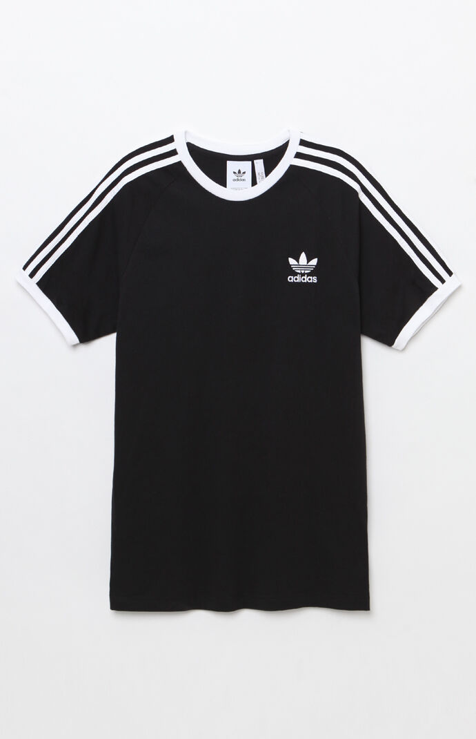 3-Stripes Black Ringer T-Shirt