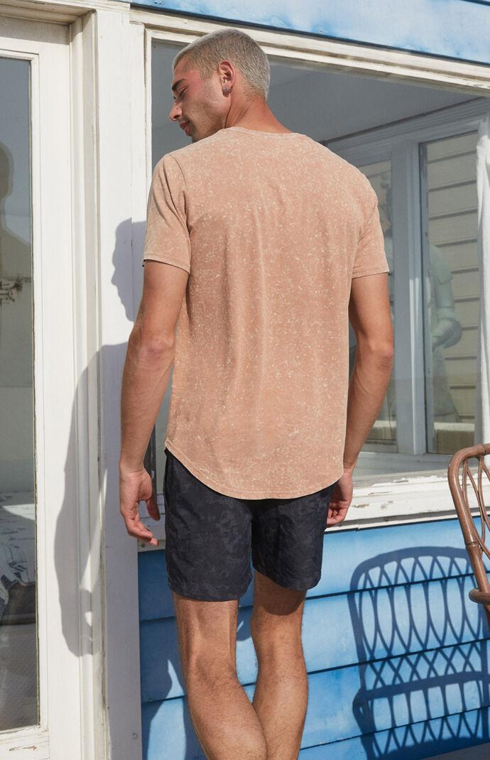 Acid Wash Knit T-Shirt