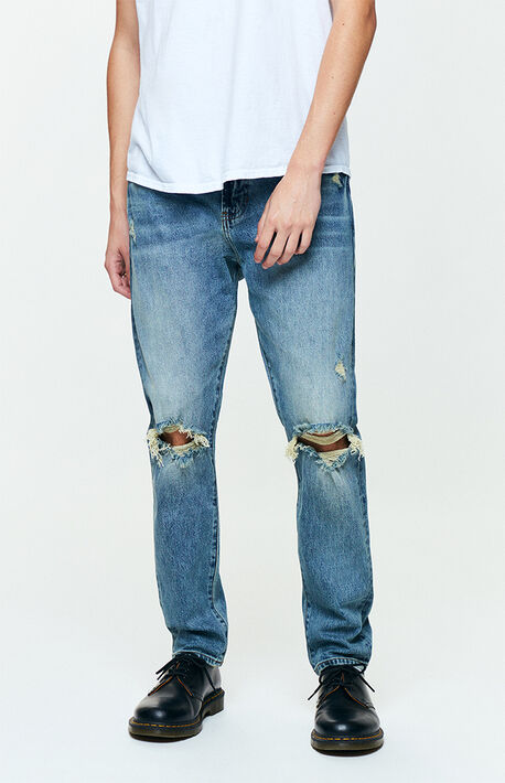9d630638f0d Medium Ripped Slim Taper Jeans