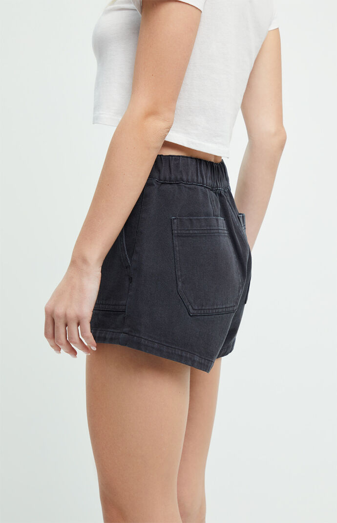 Almost Black Utility Shorts