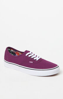 Women's Cuban Floral Authentic Low-Top Canvas Sneakers
