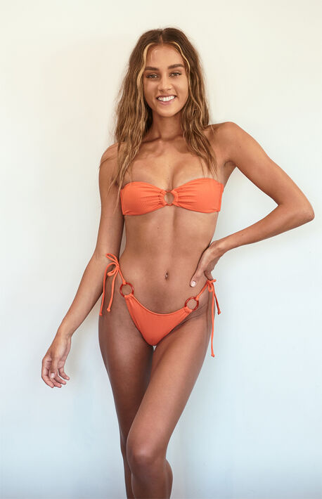 Heat Wave Ring Bandeau Bikini Top