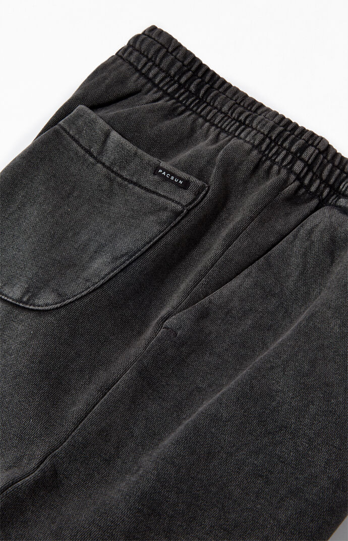 Black Volley Sweat Shorts