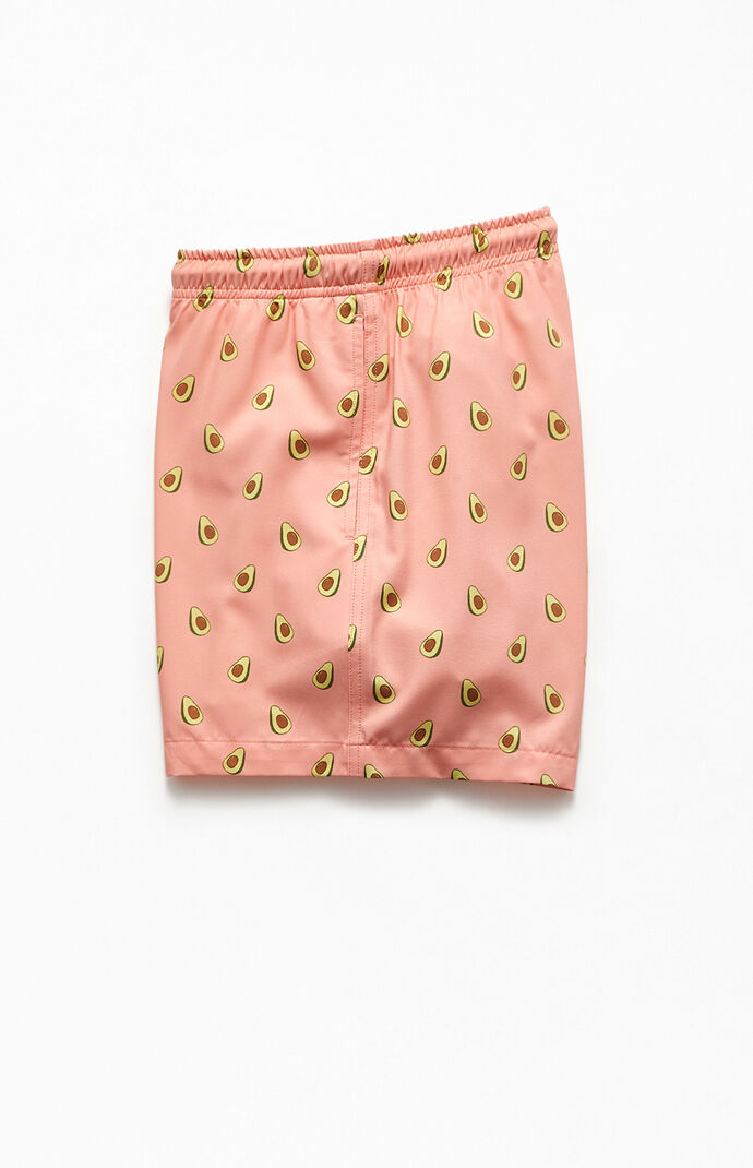 "Pink Avocado 14"" Swim Trunks"
