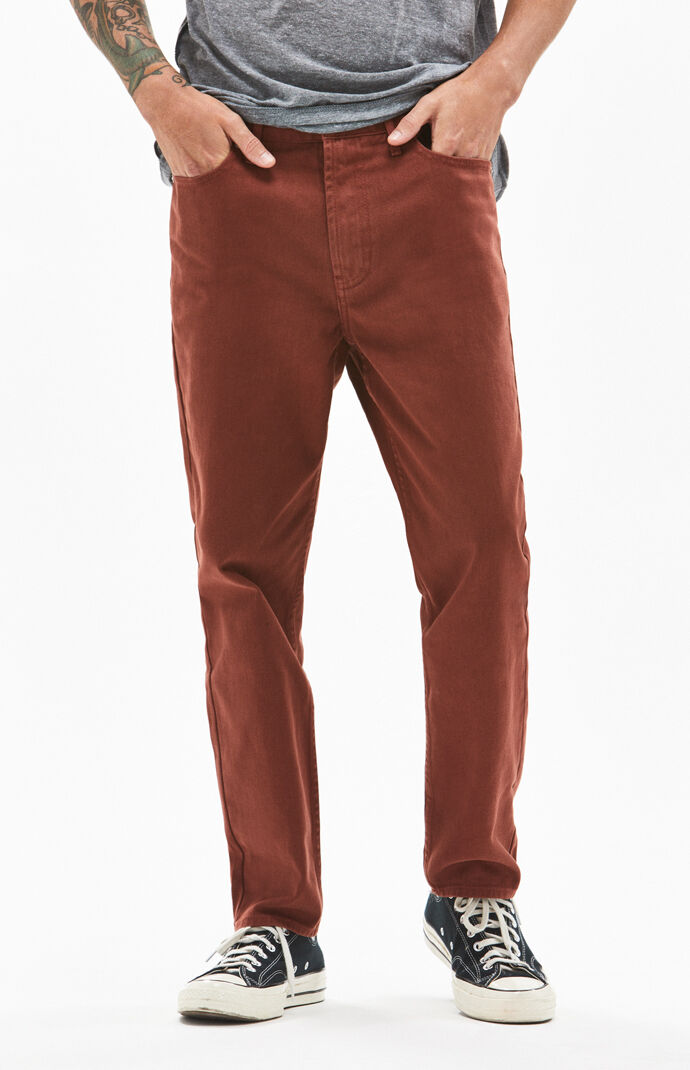 380605a8d2a Solid Rust Slim Taper Jeans