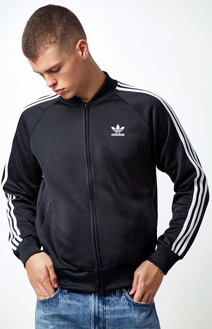 adidas Superstar Black & White Relaxed Track Jacket - Black/white 5876883