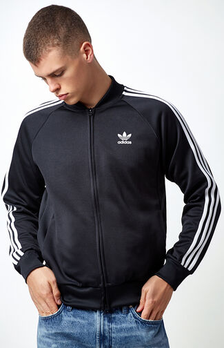 Superstar Black & White Relaxed Track Jacket