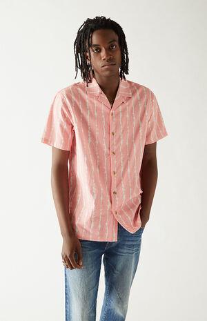 Striped Resort Seersucker Camp Shirt image number null