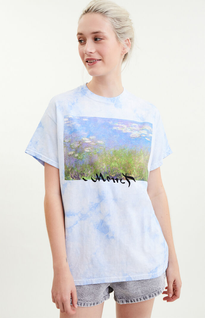 Tie-Dyed Monet Water Lilies T-Shirt