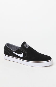 Zoom Stefan Janoski Slip-On Suede Black & White Shoes