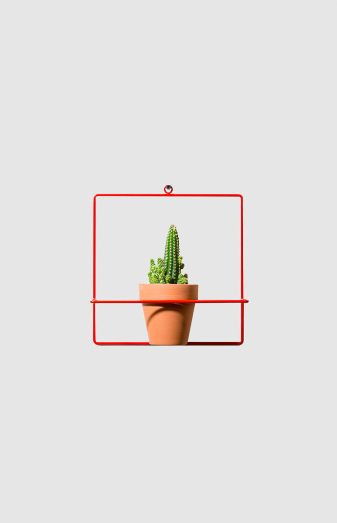 Red Square Wall Planter