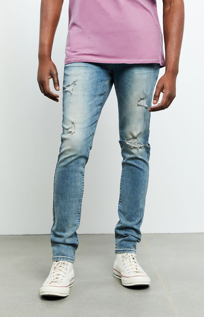 Brandon Medium Ripped Stacked Skinny Jeans