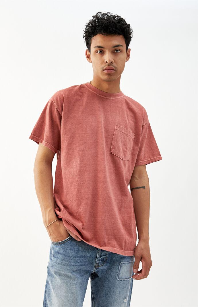 Red Vintage Wash Pocket T-Shirt