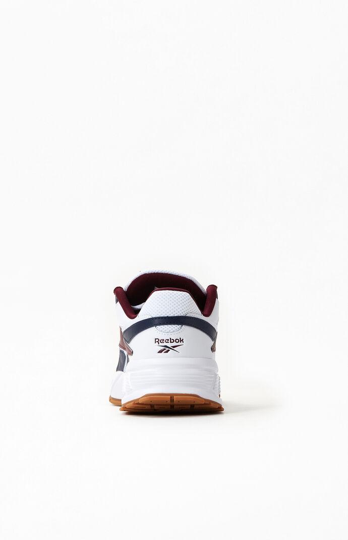 White & Burgundy EVZN Shoes
