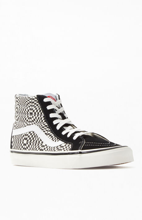 7242831975 Black  amp  White Anaheim Factory Sk8-Hi 38 DX Shoes