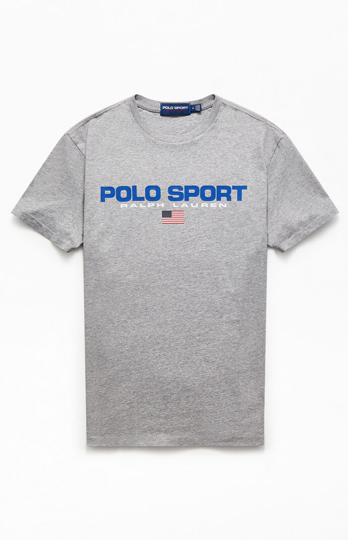 Heather Gray Polo Sport T-Shirt