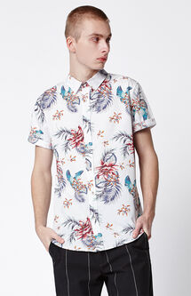 Spring Tropical Button Up Shirt