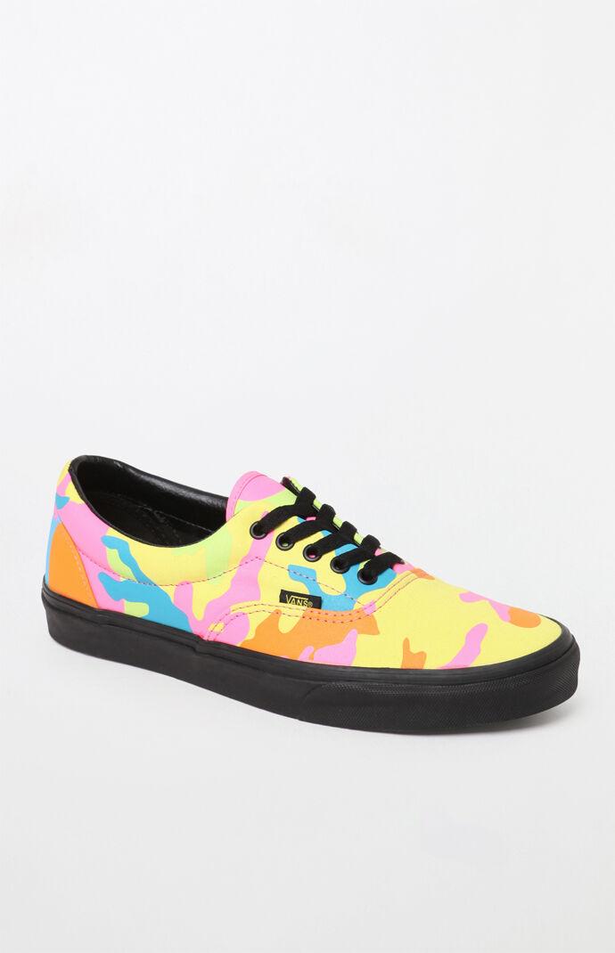 f55b07679c32cc Vans Neon Camo Era Shoes