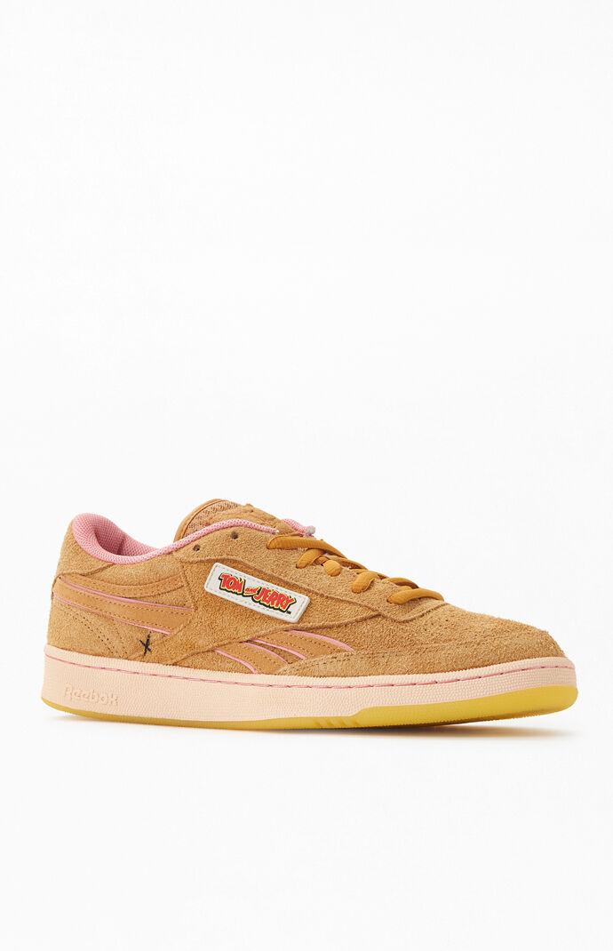 Reebok Mens x Tom & Jerry Club C Revenge Shoes - Brown size 11