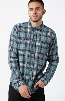 Jerry Plaid Long Sleeve Button Up Shirt