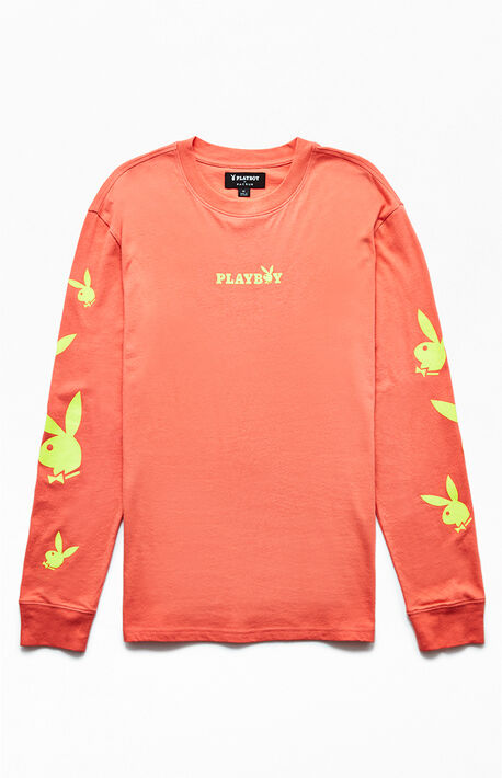 97ee8b20a x Playboy Safety Scatter Long Sleeve T-Shirt