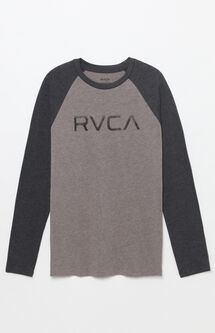 Big RVCA Long Sleeve Raglan T-Shirt