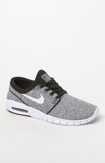 Stefan Janoski Max Knit Olive & White Shoes