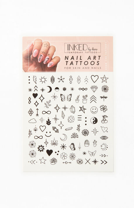 Black & White Nail Art Tattoos