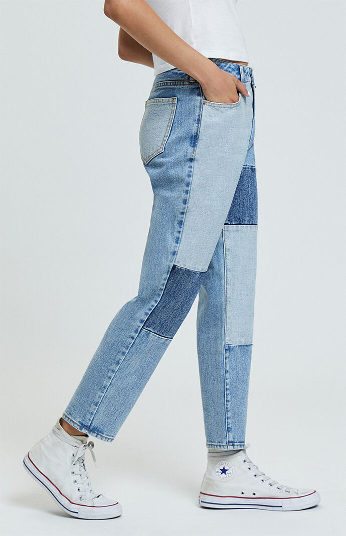 Patch On Blue Mom Jeans