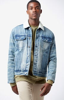 Classic Sherpa Denim Trucker Jacket
