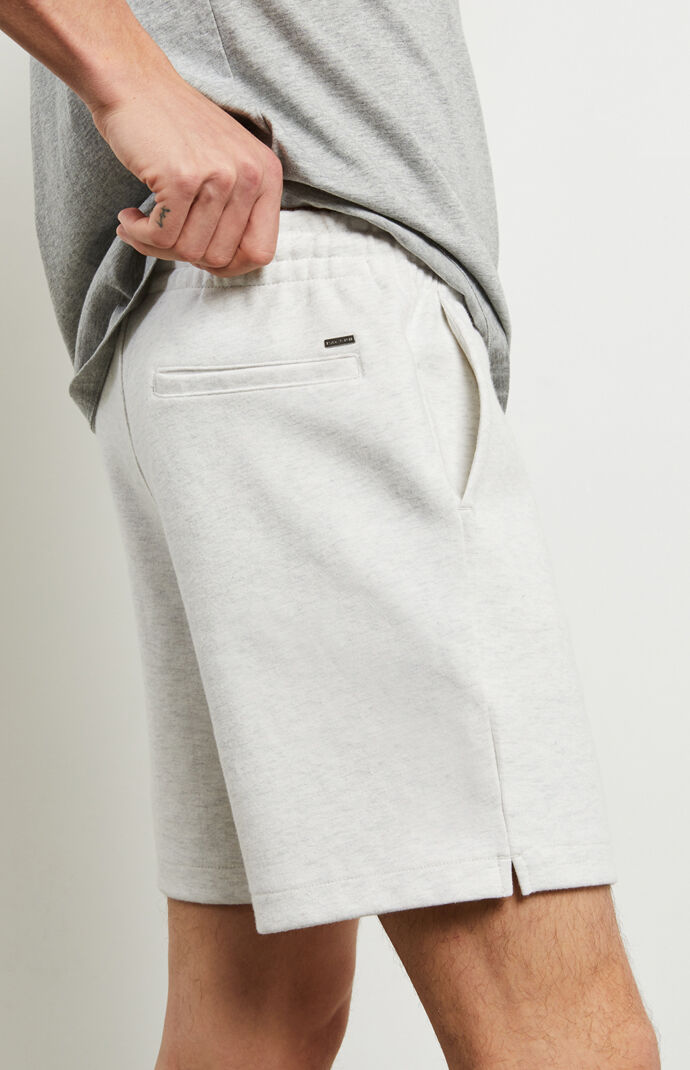White Heather Fleece Volley Shorts