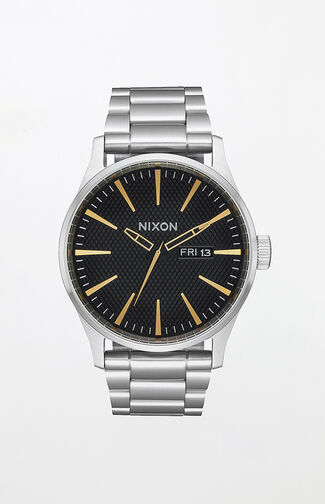 Sentry Black & Gold Watch