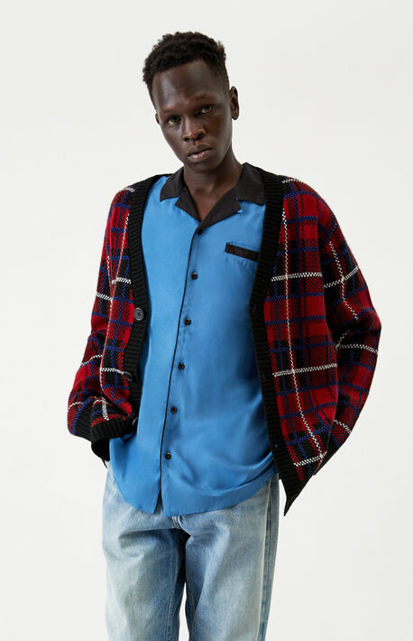 Blue & Black Resort Button Up Shirt
