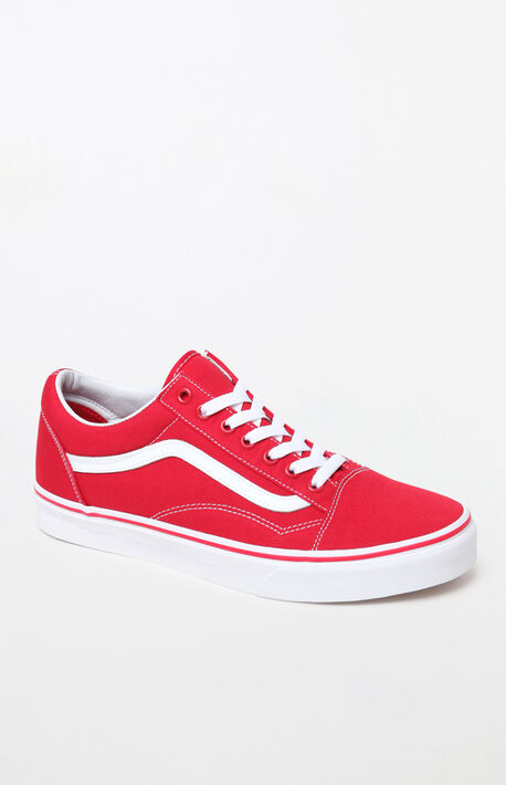 65a8312ed448ab Red Old Skool Shoes